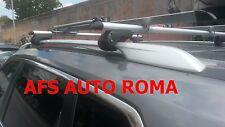 BARRE PORTAPACCHI ALLUMINIO NISSAN X-TRAIL ANNO 2014 CON RAILS CHIAVE ANTIFURTO