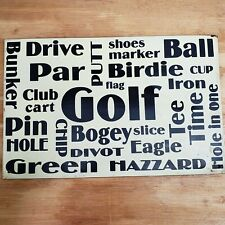 Vintage Metal Golf Sign Man Cave Country Club Room Retro Cart Ball Bunker Iron