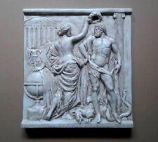 Relief Groß Griechische Skulptur Wandrelief Bild Greek Flachrelief Stuck gips