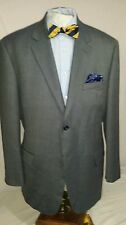 Mens JOSEPH & FEISS blue 2 button single vent herringbone sport coat sz 48R