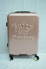 Juicy Couture Baby Pink 4-Wheeled Suitcase Lightweight Polycarbonate New