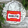 DecoWords Wood Dog Ornament Mini Sign VERY SPOILED SHELTIE LIVES HERE Gift USA