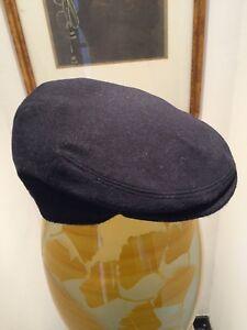 Seifter Associates Framar Cabbie Hat Newsboy Cap BLUE Wool Cashmere 6 7/8 S 55