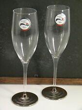 NOS NWT Eisch Crystal Platinum Champagne Flutes Sensis Plus Glass Wedding Gift!