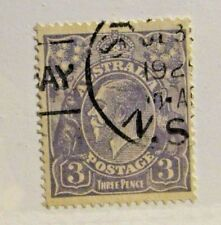 AUSTRALIA #30 Θ used, 3d Kangaroo & Emu stamp, nice cancel, very fine + 102 card