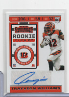 Trayveon Williams Bengals RC Signed Rookie Ticket 160 Panini 2019 110620MLCD