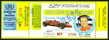 1 1968 INDIANAPOLIS INDY 500 AUTO RACING VINTAGE UNUSED FULL TICKET  laminated