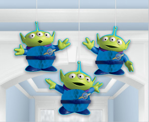 Toy Story Little Green Men Hanging Honeycomb Decorations - 3pk
