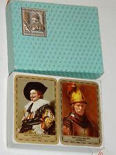 lot 2 JEU de 54 CARTES à JOUER vintage WADDINGTON'S cards REMBRANDT frans HALS