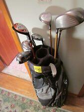 (HS107)  Men's Golf set Slazenger irons Cleveland woods putter Ping bag