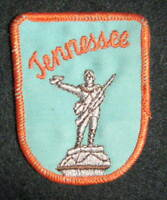"TENNESSEE~STATE EMBROIDERED SEW ON ONLY PATCH TOURIST SOUVENIR  2 1/4"" x 3"""