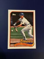 1989 Topps #35 TERRY FRANCONA Milwaukee Brewers Red Sox Indians