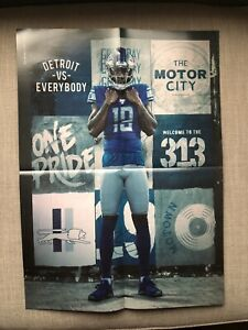 Detroit Lions 2019 SGA Fold Out KENNY GOLLADAY 16x20 Poster