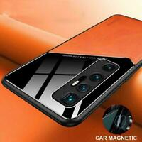 Poco X3 NFC Magnetic Hybrid Leather Acrylic Camera For Xiaomi Cover Case J4T8