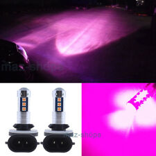 Pink Purple 889 881 LED Fog Light Bulbs 1600lm For Hyundai Elantra Accent 13-17