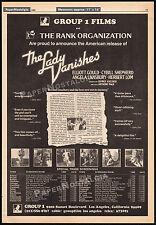 THE LADY VANISHES__Orig. 1980 Trade screening AD promo / poster__CYBILL SHEPHERD