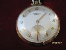 Mid Modern Pocket Watch Vintage 1960's Longines 14k Gold