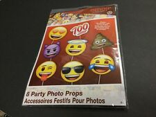 emoji Party Photo Booth Props Set of 8 signs  - Create Fun Photos!