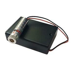High-Power 250mW Punctate Focusable Laser Module 650nm + AA Battery Case