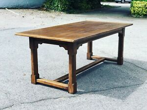 Oak Dining Table, Refectory Table. Solid Oak. Superb Quality.