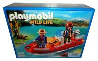 PLAYMOBIL WILD LIFE 5559 INFLATABLE BOAT WITH EXPLORERS *BNIB*