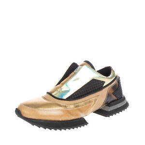 RRP €275 ALBERTO PREMI Sneakers EU 42 UK 8 US 9 Contrast Leather Made in Italy