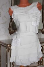 JOVONNA LONDON ivory silk mix  layered  dress  size 8