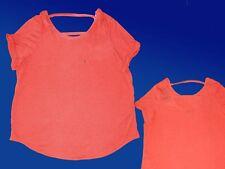 Tendance Haut pour Femmes T Chemise Tunique Blouse Shirt Décolleté Dos 46