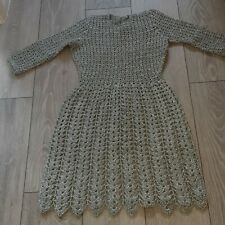 Metallic Lurex Crochet Dress