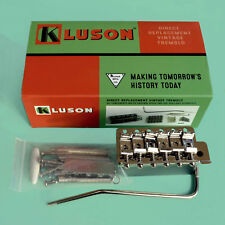 Kluson Vintage Style Tremolo Bridge Stratocaster 56mm Steel Block Nickel Finish