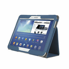 """Samsung Galaxy Tab 4 Case Cover 10.1"""" T530 PU TABLET Cover Stand Folio BLUE"""