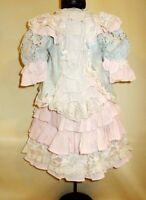 Cotton dress for antique dolls 50-65 cm (20-25 inches). Length 40 cm (15,5 in)