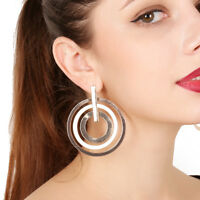 Fashion Hollow Big Circle Alloy Ear Stud Drop Dangle Earrings Jewelry For Women