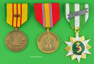 Vietnam Campaign, Service and National Defense Medals 2 campaign/battle stars T1