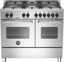 Bertazzoni Master Series MAS100-6-MFE-D-XE Free Standing Range Cooker in Stainle