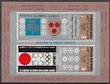 Yemen 1972 ** Mi. Bl.83 Olympische winterspiele winter olympics Grenoble