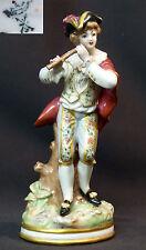 18èm superbe grand sujet statue porcelaine fine saxe 755g24cm volkstedt meissen