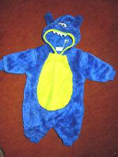 Das kleine blaue Krokodil - Kapuzenoverall für 3-5 Monate - Kostümfest für Kids