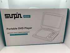 Sunpin Pd101 Black Rechargeable Battery 12W 12.5 Inch Screen Portable Dvd Player