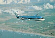 SKYLINER CARDS 035 Fokker 100 KLM Royal Dutch Airlines PH-KLC  Airplane Postcard
