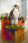 "Edwin Landseer CANVAS PRINT The Falcon bird poster 24""X16"""
