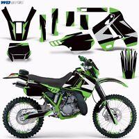 Graphic Kit Kawasaki KDX 200 Bike Decals Kawi Deco w/Backgrounds KDX200 89-94 XX