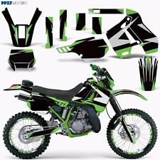 Graphic Kit Kawasaki KDX 200 Bike Decals Kawi Deco w/Backgrounds KDX200 89-94 XX