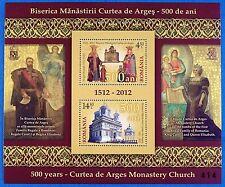 Rumanía Romania 2012 convento Cujas de arges bloque 543 mnh tirada 500