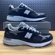New Balance 993 Made In USA Black Grey Regular Width MR993BK Men's Size 14 D