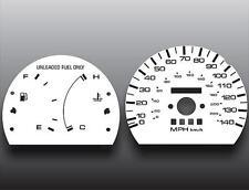 1990-1994 Mazda Protege Dash Instrument Cluster White Face Gauges