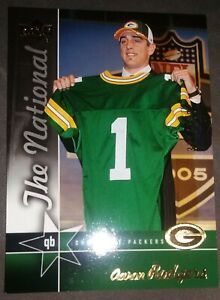 Aaron Rodgers 2005 Upper Deck National RARE VIP Rookie Card #371/750