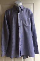 Paul Stuart Men's Red White Blue Black Plaid Long Sleeve Shirt sz XXL
