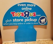 Toys R Us Store Display Sign RARE collectors item 2 sided cardboard Mint cond