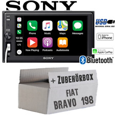 Sony Autoradio für Fiat Bravo 198 Bluetooth Apple CarPlay USB Einbauzubehör/-set